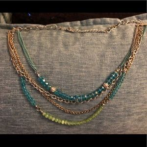 Three Tiered Beaded Necklace